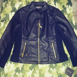 Ellen Tracey Black leather jacket